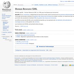 Human Resource XML