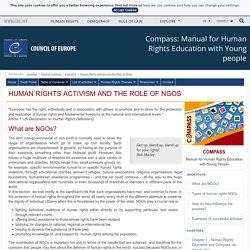 Le militantisme et le rôle des ONG - Conseil de l'Europe