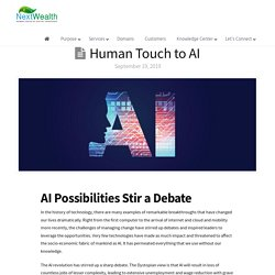 Human Touch to AI - Must read AI blog