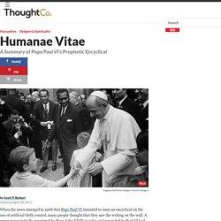 Humanae Vitae - A Summary of the Encyclical
