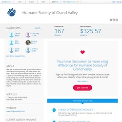 Humane Society of Grand Valley - Free Way to Support Us!