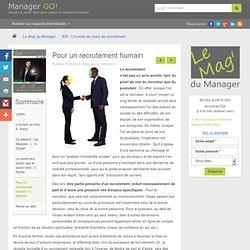 Humaniser le recrutement