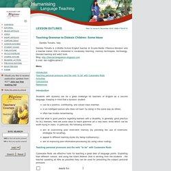 Humanising Language Teaching Magazine for teachers and teacher trainers
