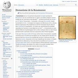 Humanisme de la Renaissance