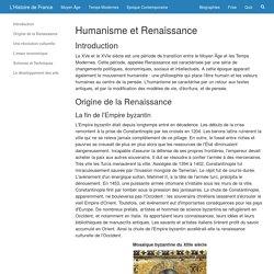 Dissertation sur humanisme et renaissance