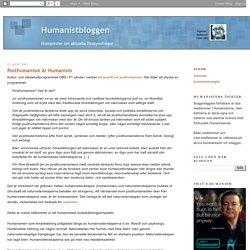 Posthumanism är Humanism