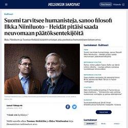 Suomi tarvitsee humanisteja, sanoo filosofi Ilkka Niiniluoto – Heidät pitäisi saada neuvomaan päätöksentekijöitä - Kulttuuri