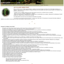 Green Point, le réseau de villages humanistes et écologiques