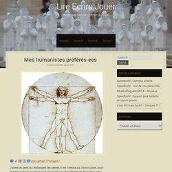 (blog Bookmore) Mes humanistes préférés-ées