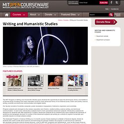 Free Online MIT Course Materials | Writing and Humanistic Studies | MIT OpenCourseWare