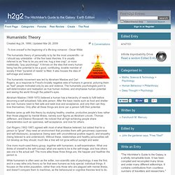 Humanistic Theory