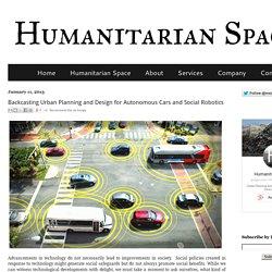 Backcasting Urban Planning and Design for Autonomous Cars and Social Robotics