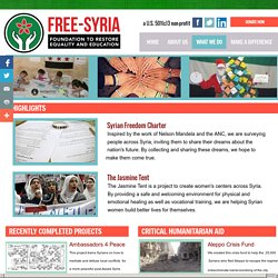 Foundation To Restore Equality And Education in Syria (Free-syria) - Humanita...
