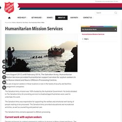 Humanitarian Mission Services » salvos.org.au/