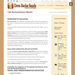 Humanitarian Works by humanitarian organization, Dera Sacha Sauda