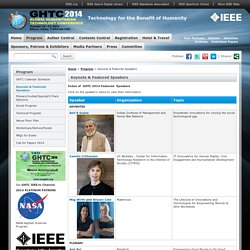 IEEE Global Humanitarian Technology Conference (GHTC)