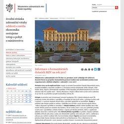 Informace o humanitárních dotacích MZV na rok 2017