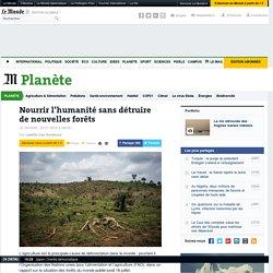 Nourrir l'humanité sans détruire de nouvelles forêts