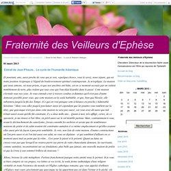 Extrait de Jean Phaure... Le cycle de l'humanité Adamique - Fraternité des Veilleurs d'Ephèse