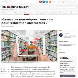 Humanités numériques: uneaide pour l'éducation auxmédias?