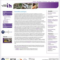 4 –ISH – Humanités numériques : images, texte, édition critique