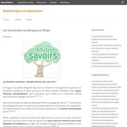 Les humanités numériques et l'École