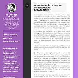 Olivier Le Deuff, Les humanités digitales : un renouveau pédagogique ? (2016)
