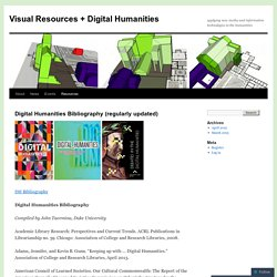 Digital Humanities Bibliography (regularly updated)