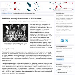eResearch and Digital Humanities: a broader vision?
