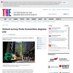 Oxford survey finds humanities degrees pay