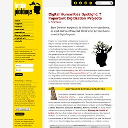 Digital Humanities Spotlight: 7 Important Digitization Projects