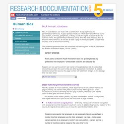 Research and Documentation Online 5th Edition