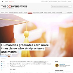 Humanities graduates earn more than those who study science and maths
