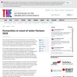 Humanities in need of wider Horizon 2020