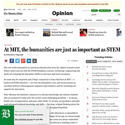 At MIT, the humanities are just as important as STEM