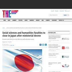 Social sciences and humanities faculties to close in Japan after ministerial decree