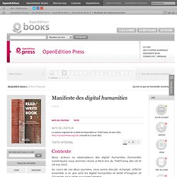 Write Book 2 - Manifeste des digital human...