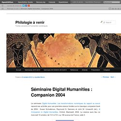 Séminaire Digital Humanities