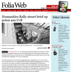 Humanities Rally stuurt brief op poten aan CvB