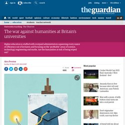 The war against humanities at Britain's universities