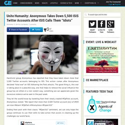 "Unite Humanity: Anonymous Takes Down 5,500 ISIS Twitter Accounts After ISIS Calls Them ""Idiots"""