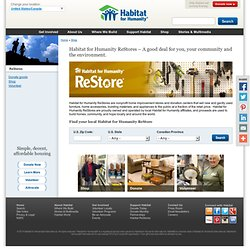 ReStore resale outlets