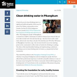 Clean drinking water in Pikangikum