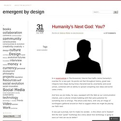 Humanity's Next God: You?