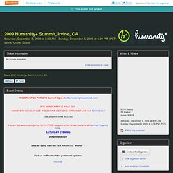 open source hardware for Humanity+ Summit, Irvine, CA - Eventbri