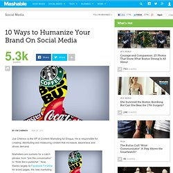 10 Ways to Humanize Your Brand on Social Media