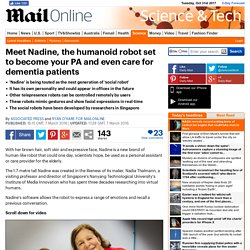 Meet Nadine, the humanoid robot set to become your PA and even care for dementia patients