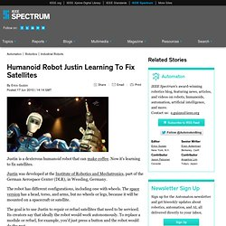 Humanoid Robot Justin Learning To Fix Satellites