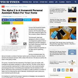 The Alpha 2 Is A Humanoid Personal Assistant Robot For Your Home