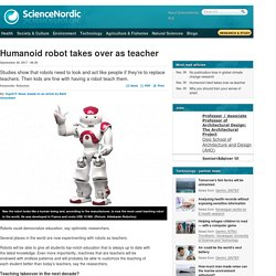 Humanoid robot takes over as teacher